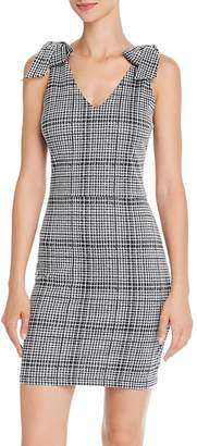 Aqua Bow Detail Plaid Dress - 100% Exclusive
