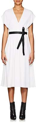 Narciso Rodriguez Women's Pintuck Crepe Belted Midi-Dress