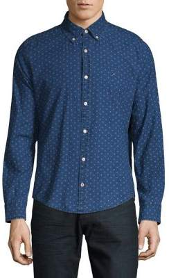 Tommy Hilfiger Slim-Fit Printed Button-Down Shirt