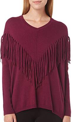 DKNY Women's Fringe Accented Dolman Pullover