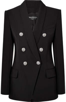 Balmain - Double-breasted Wool Blazer - Black