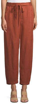 Eileen Fisher Tencel® Linen Tie-Waist Lantern Pants, Petite