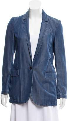 Gucci Structured Chambray Blazer Blue Structured Chambray Blazer