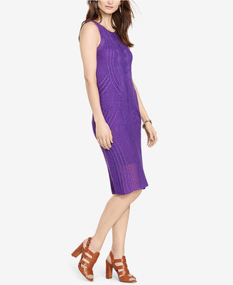 Lauren Ralph Lauren Open-Knit Sweater Dress $198 thestylecure.com