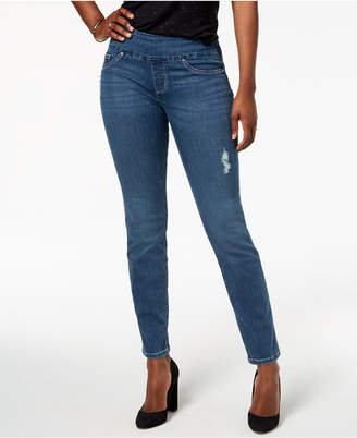 Lee Platinum Petite Medium-Wash Skinny Jeans