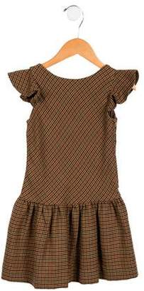 Ralph Lauren Girls' Houndstooth Cap-Sleeve Dress