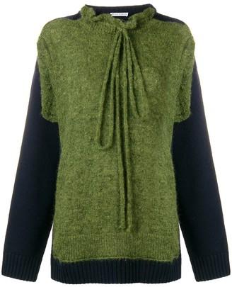 J.W.Anderson military green trompe l'oeil knit jumper