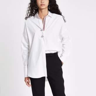 River Island White batwing tape trim shirt
