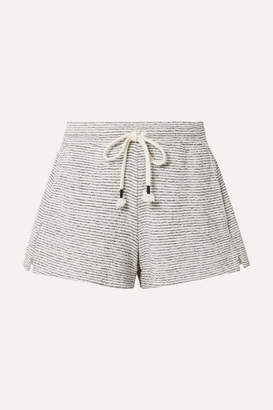 Skin - Teeghan Striped Pima Cotton And Modal-blend Pajama Shorts - Gray
