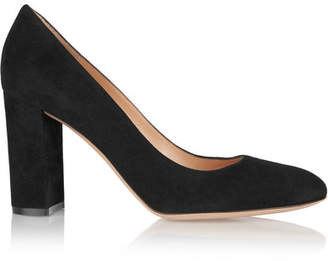 Gianvito Rossi 85 Suede Pumps - Black
