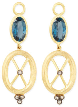 Jude Frances London Blue Topaz & 18k Gold Charms, Set of 2