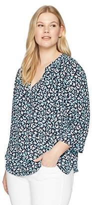 NYDJ Women's Plus Size Pintuck Blouse