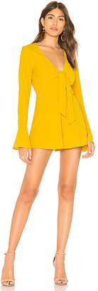 Jolie Ruffle Romper in Yellow. - size M (also in S,XS,XXS) by the way.