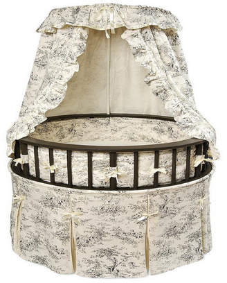 Badger Basket Elegance Round Baby Bassinet With Canopy