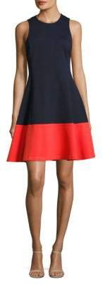 Eliza J Sleeveless Colorblock Fit-and-Flare Dress $148 thestylecure.com
