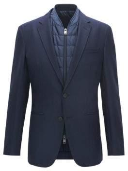 BOSS Hugo Tailoring Wool Sport Coat, Slim Fit Haylen 42L Dark Blue