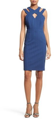 Women's Tracy Reese Harness Neck Sheath Dress $298 thestylecure.com