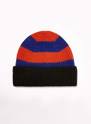 22e392a5859 at Topman · Topman Red and Blue Stripe Beanie