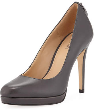 MICHAEL Michael Kors Antoinette Leather Platform Pumps with Padlock