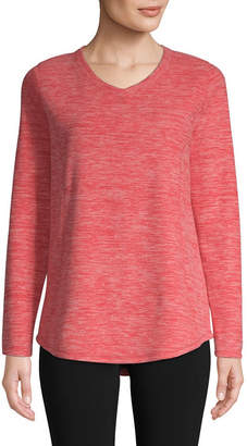 ST. JOHN'S BAY SJB ACTIVE Active V Neck Polar Fleece Pullover