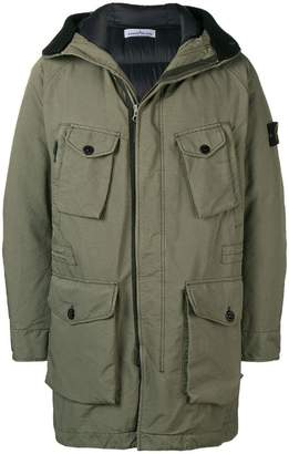 Stone Island multi-pocket coat