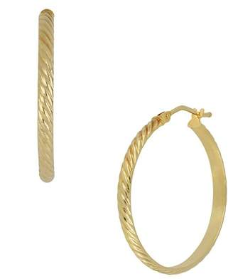 Bony Levy 14K Yellow Gold Etched 26mm Hoop Earrings