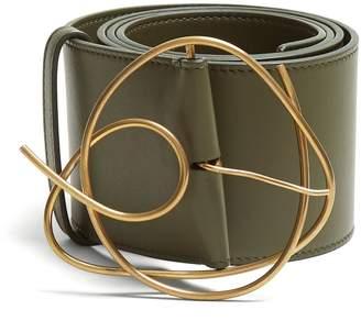 Roksanda Twisted Buckle Leather Belt