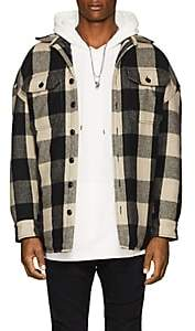 R 13 Men's Workshirt Buffalo-Checked Wool-Blend Jacket
