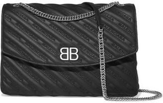 Balenciaga Quilted Leather Shoulder Bag - Black