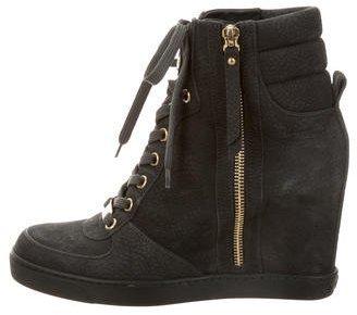 Louis Vuitton Nubuck Wedge Sneakers