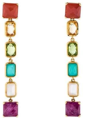 Ippolita 18K Multistone & Mother of Pearl Rock Candy Drop Earrings