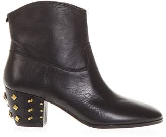 MICHAEL Michael Kors Black Avery Boots In Leather