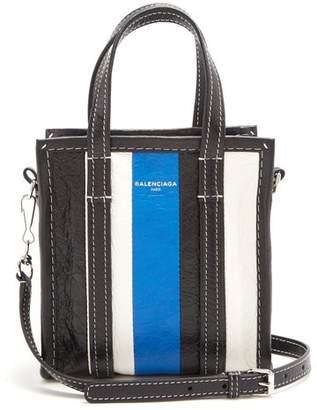 Balenciaga Bazar Shopper Xxs - Womens - Black Stripe