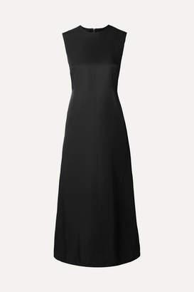 Helmut Lang Open-back Satin-crepe Midi Dress - Black