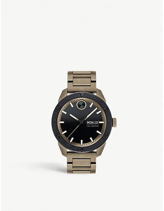 Movado Bold Sport khaki-plated stainless steel watch
