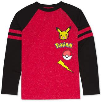 Pokemon Big Boys Pikachu Graphic T-Shirt