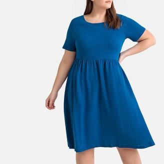 6d517a9cc3e49 La Redoute COLLECTIONS PLUS Linen/Cotton Jersey Dress with Back Bow