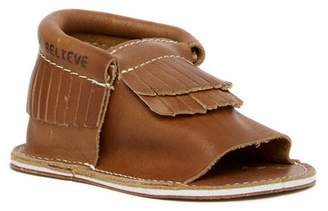 First Steps Leather Moccasin Sandal (Baby & Toddler)