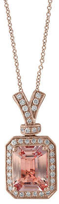 Effy Fine Jewelry 14K Rose Gold 0.20 Ct. Tw. Diamond & Morganite Necklace