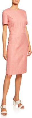 Kiton 1/2-Sleeve Tweed Dress