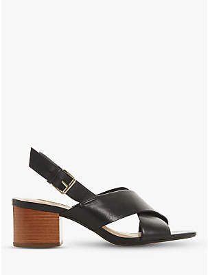 Dune Indey Block Heel Cross Strap Sandals
