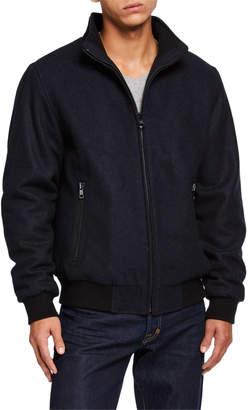 Iconic American Designer Men's Wool Bomber Jacket