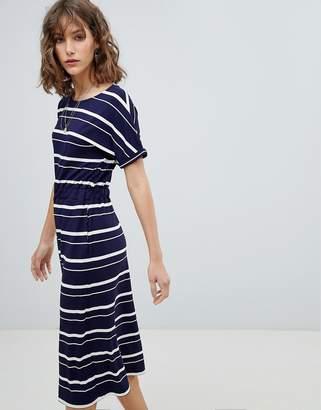 Warehouse Stripe T-Shirt Midi Dress