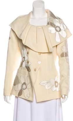John Galliano Wool and Velvet Jacket