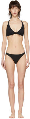 Solid and Striped Black Rib The Fiona Bikini