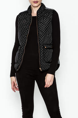 Skies Are Blue Polka Dot Quilted Vest
