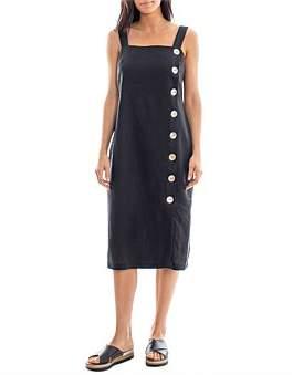 Jump Side Button Linen Dress