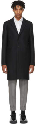 Paul Smith Grey Wool Single Button Coat