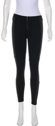 Alice + Olivia Zip-Up Skinny Pants Black Zip-Up Skinny Pants