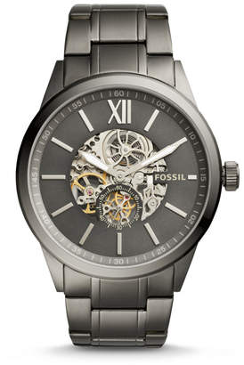 Fossil Flynn Automatic Smoke Stainless Steel Watch